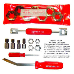 MADE IN USA automative repair tools: spindle rethreader die sets, tire valve stem removers, brake spring remover