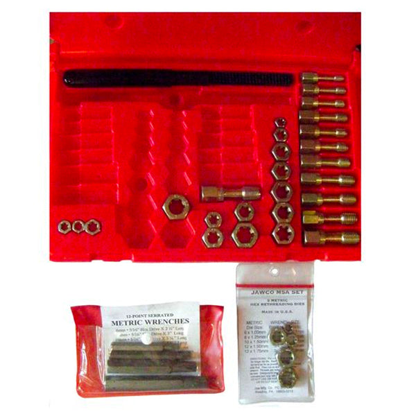 MADE IN USA 28-Piece Metric Tap, Die, & File Set, metric wrenches