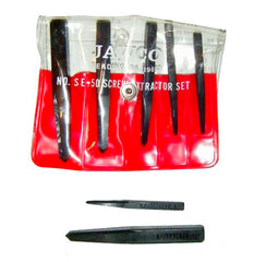 MADE IN USA 5-piece Jawco screw extractor set