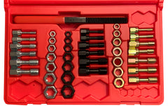MADE IN USA Jawco #1842 42-Piece Rethreading Tap, Die, & File Set in custom-molded red plastic case