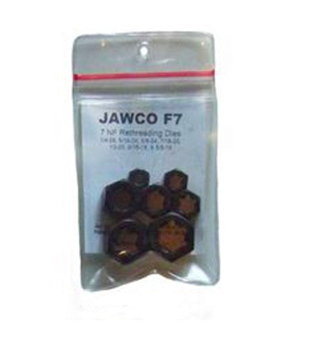 "MADE IN USA Jawco Seven Fine NF-SAE Thread-Restoring Dies (1/4""-28 tpi, 5/16""-24, 3/8""-24, 7/16""-20, 1/2""-20, 9/16""-18, 5/8""-18 tpi)"