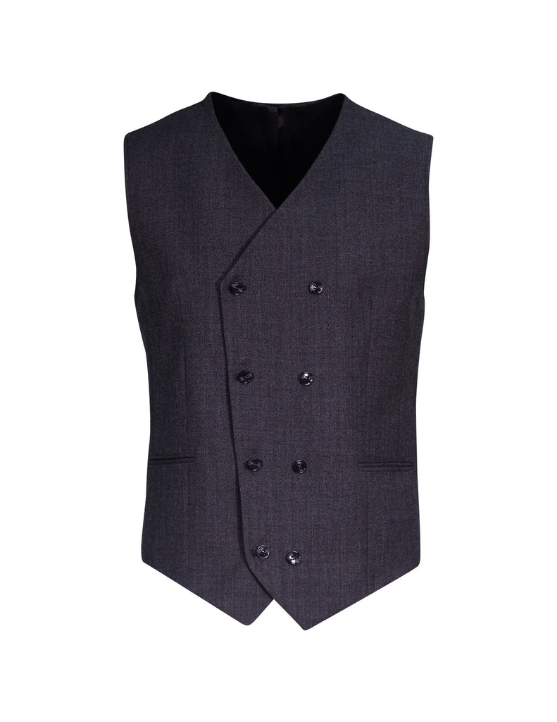 Black double breasted waist coat