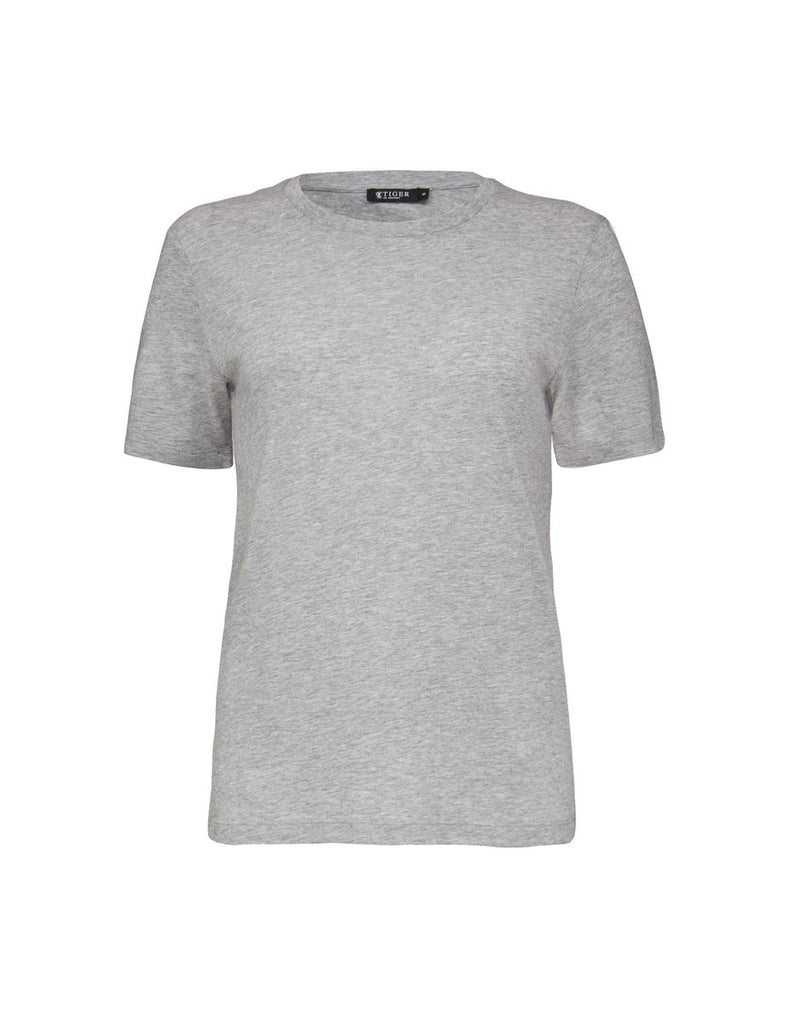 DEIRA LIGHT GREY MELANGE T-SHIRT - Tiger of Sweden Montreal - Online Shop