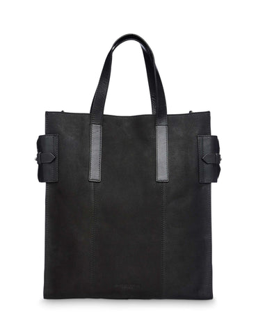 Black suede tote bag Tiger Of Sweden