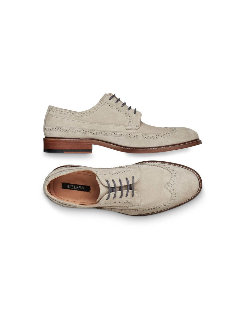 LUNDER BROGUE PALE GREY