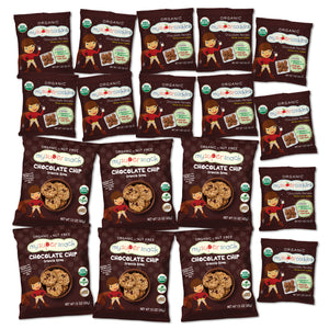 Load image into Gallery viewer, Healthy snacks, vegan snacks, organic snacks.  Snacks  for kids, toddlers and babies.  Organic, peanut and tree nut free, whole grain cookies.  Perfect for snack time and on the go.  Healthy animal cracker and graham cracker alternative. Healthy chocolate. Vegan toddler and kids snacks.