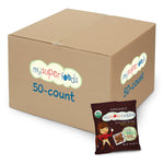 mysupercookies chocolate heroes 50 count bulk box is the best organic nut free snack solution for restocking your pantry, classroom party, library storytime, birthday party, road trip, gift
