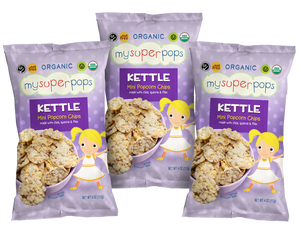 Load image into Gallery viewer, Healthy snacks, vegan snacks, organic snacks.  Snacks for kids, toddlers and babies.  Organic, peanut and tree nut free, gluten free, whole grain mini popcorn chips.  Perfect for snack time and on the go.  Healthy pirates booty alternative.