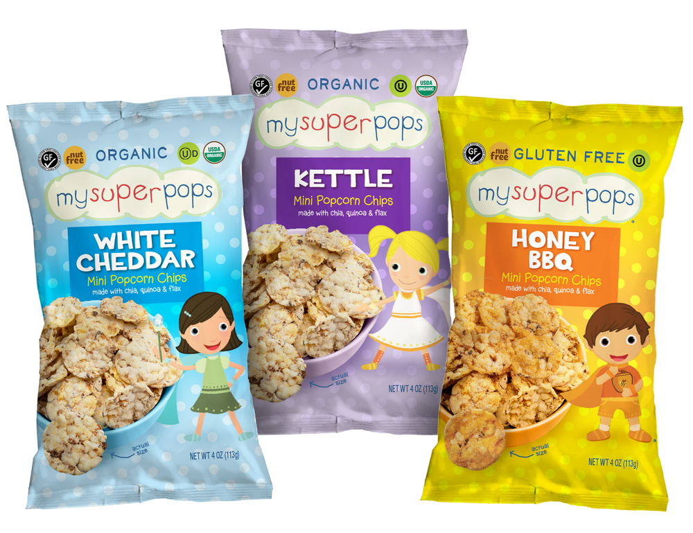 Healthy snacks, organic snacks.  Snacks for kids, toddlers and babies.  Organic, peanut and tree nut free, gluten free, whole grain mini popcorn chips.  Perfect for snack time and on the go.  Healthy pirates booty alternative.