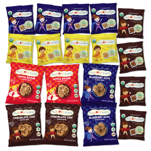 Load image into Gallery viewer, Healthy snacks, vegan snacks, organic snacks.  Snacks  for kids, snacks for toddlers.  Organic, peanut and tree nut free, whole grain cookies.  Perfect for snack time and on the go.  Healthy animal cracker and graham cracker alternative. Vegan toddler snacks, Healthy snacks.