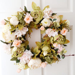 Summer Wreath - Sage & Ivory