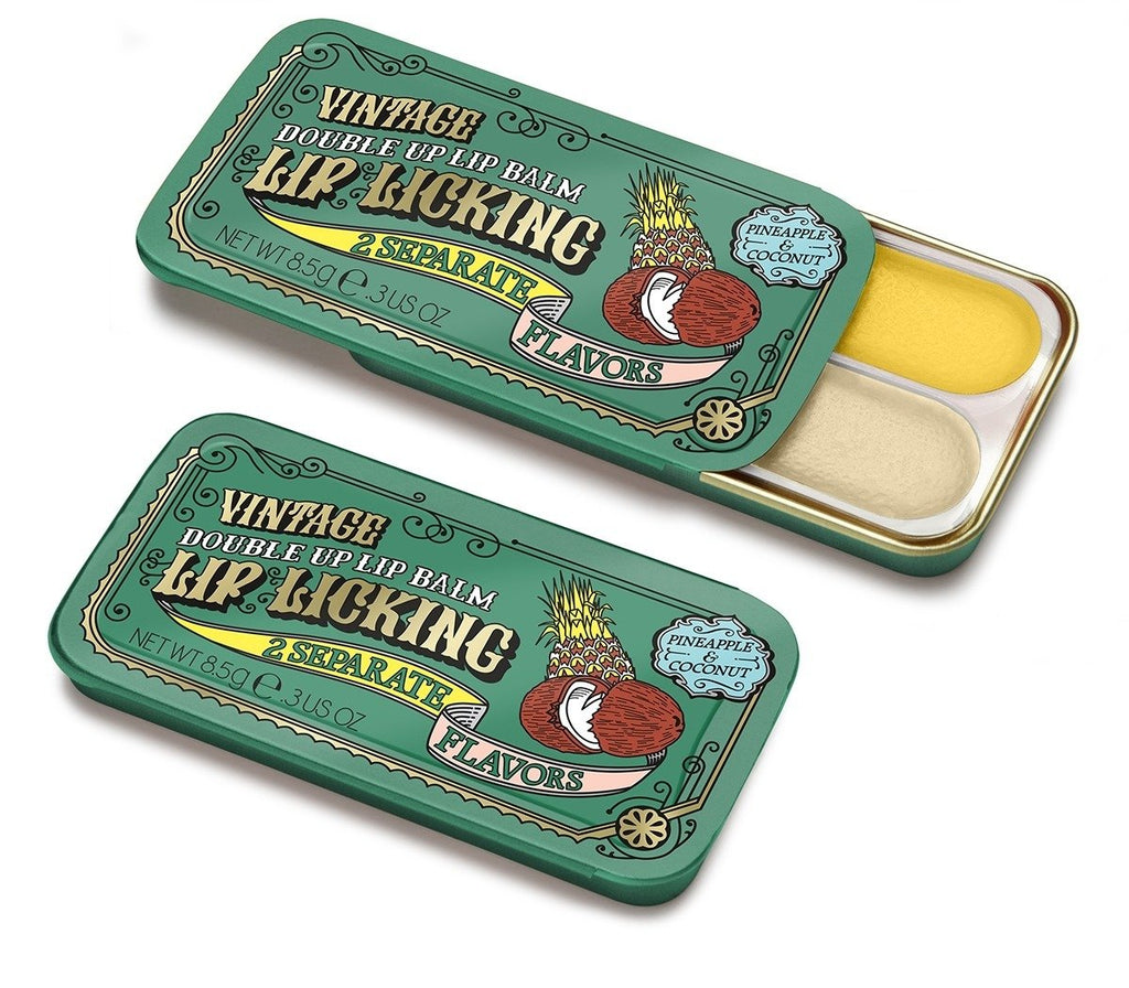 Tester - Pineapple & Coconut Double Up Lip Licking Lip Balm