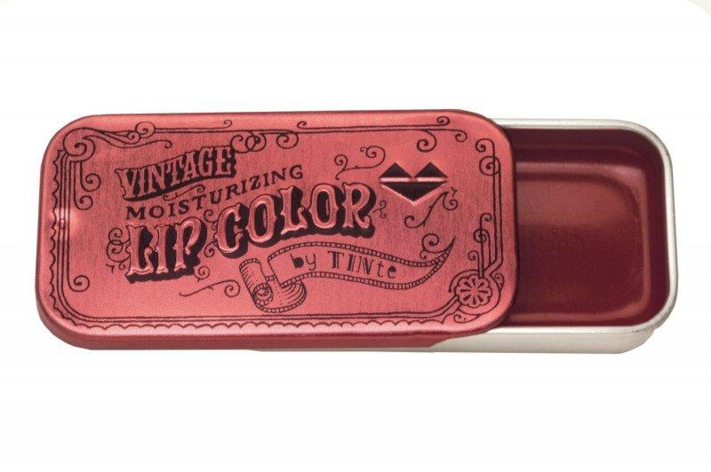 Miss Pepper Flavored Lip Gloss Vintage Slider Tin • Miss Pepper