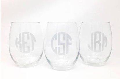 Acrylic Stemless Wine Glasses - South of Hampton