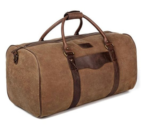 Campaign Waxed Canvas Large Field Duffle Bag - South of Hampton
