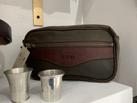 Campaign Waxed Canvas Shave Kit - South of Hampton