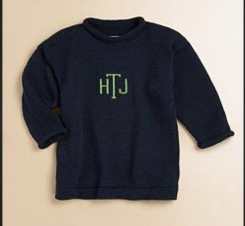 Children's Cotton Roll Neck Sweater - South of Hampton