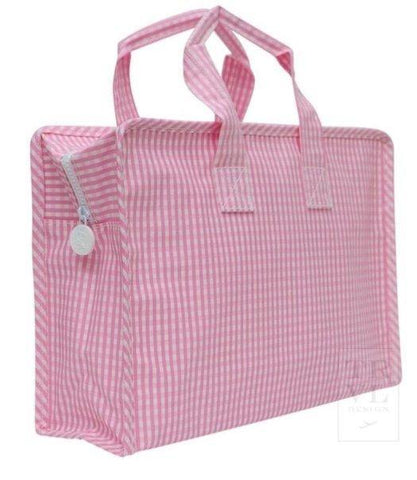 "Gingham ""Overnight"" Tote - South of Hampton"