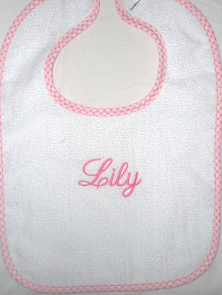 Gingham Trim Bib - South of Hampton