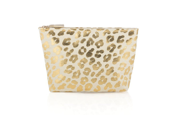 Leopard Zip Pouch - South of Hampton