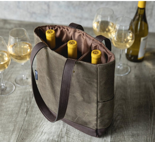 Three Bottle Insulated Wine Cooler Bag - South of Hampton