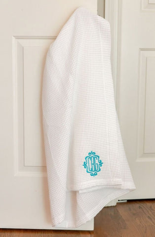 White Waffle Weave Bath Wrap - South of Hampton