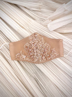 Load image into Gallery viewer, Blush Sequin Floral Mask