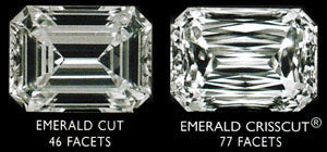 Emerald Crisscut Facets