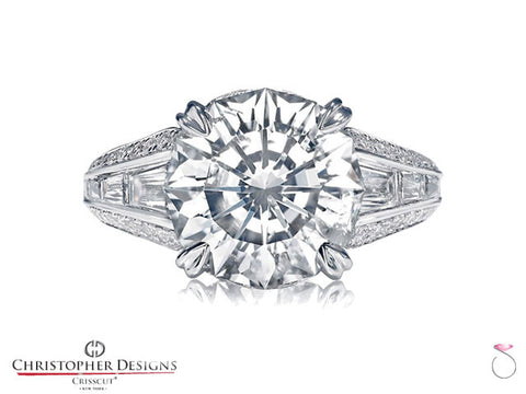 Christopher Designs Solitaire Engagement Ring 97A-RD100