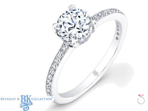 Beverley K Diamond Engagement Ring Setting 0.25ct in 18K
