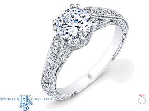 Beverley K Vintage Semi Mount Engagement Ring 0.35ct in 18K