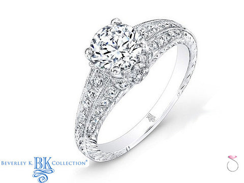 Beverley K Vintage Solitaire Engagement Ring 0.38ct in 18K