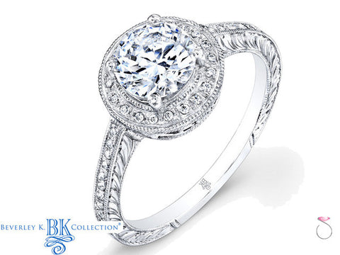 Beverley K Vintage Inspired Engagement Ring 0.15ct in 18K