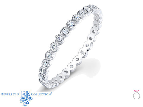 Diamond Bezel Eternity Band in 18K - Beverley K