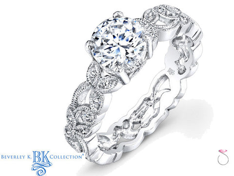 Beverley K Antique Style Engagement Ring 0.22ct in 18K