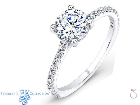 Beverley K Pave Diamond Engagement Ring 0.30ct in 18K