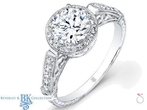 Beverley K Vintage Engagement Semi Mount Ring 0.21ct 18K