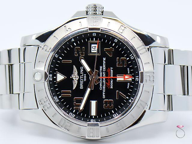 BREITLING Avenger II GMT Ref. A32390 Automatic 43mm Men's Watch, With Black Dial
