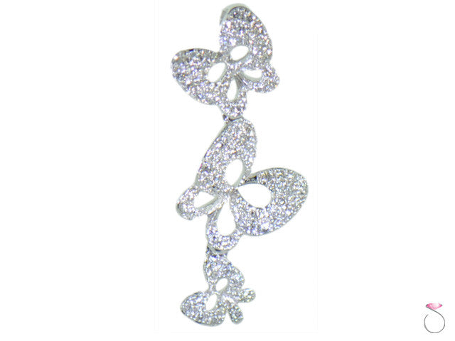 Diamond White Gold Butterflies Pendant 18K
