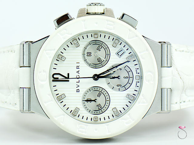 Bvlgari Diagono Chronograph Dream-white Diamond Watch