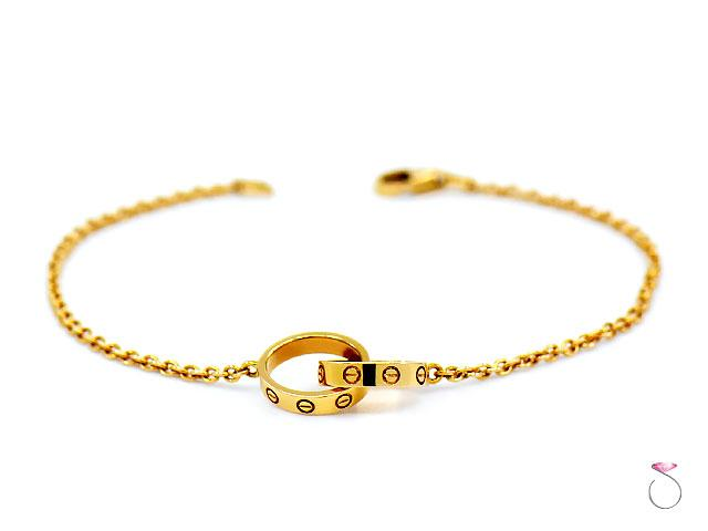 Cartier Baby LOVE Bracelet 18K Yellow Gold, Box & Papers, Chain Love Bracelet