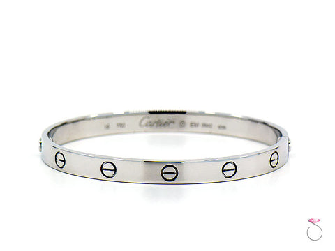 Cartier Love Bracelet 18K White Gold, size 19