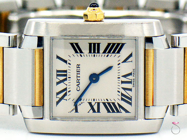 Cartier Tank Francaise Ref. 2384 18K Yellow gold & Stainless Steel Ladies watch
