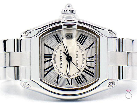 Cartier Roadster 2510 Large Mens Automatic 37 mm Steel Watch