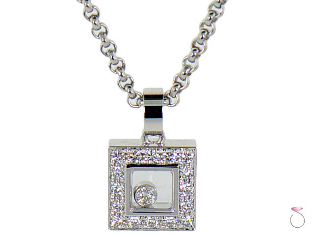 Chopard happy diamonds icons necklace 18k square halo pendant sbej chopard floating diamond pendant necklace discounted online hawaii aloadofball Choice Image