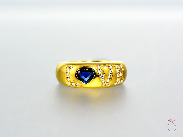 43ba4eb29c2ea Chopard Love Diamond Sapphire 18K Yellow Gold Ring Sale – SBEJ