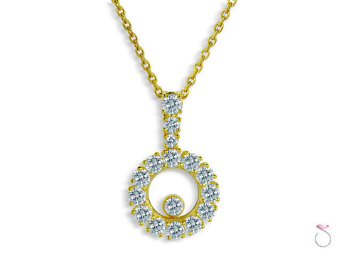 Chopard Miss Happy Pendant in 18K Yellow Gold and Diamonds