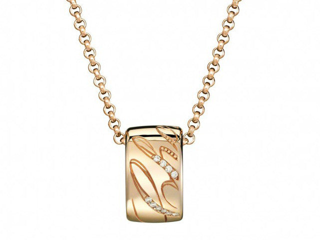 Chopard Chopardissimo Diamond Pendant 18K Rose Gold Hawaii online sale