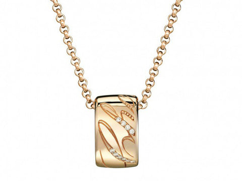 Chopard Chopardissimo 18K Rose Gold & Diamond Pendant with Chain