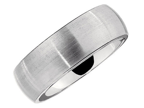Cobalt 8mm Slightly Domed Band with Satin Finish
